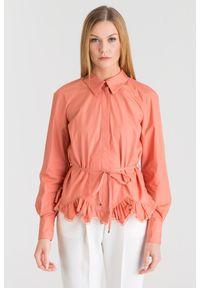 Różowa koszula Elisabetta Franchi sportowa