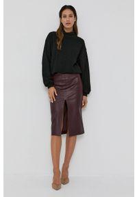 Nissa - NISSA - Sweter. Kolor: czarny. Materiał: dzianina. Długość rękawa: długi rękaw. Długość: długie