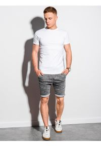 Biały t-shirt Ombre Clothing