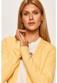 Żółty sweter rozpinany Vila #5