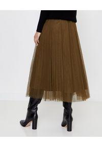 HEMISPHERE - Spódnica khaki z tiulu. Kolor: zielony. Materiał: tiul. Sezon: jesień, zima. Styl: klasyczny