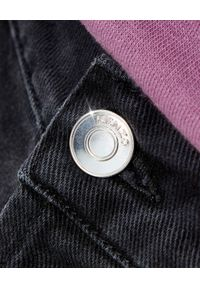 Kenzo - KENZO - Czarne jeansy Slim Fit. Okazja: na co dzień. Stan: podwyższony. Kolor: czarny. Wzór: aplikacja. Styl: casual