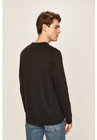 Calvin Klein Jeans - Longsleeve. Okazja: na co dzień. Kolor: czarny. Materiał: materiał. Długość rękawa: długi rękaw. Styl: casual