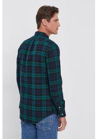 Polo Ralph Lauren - Koszula bawełniana. Typ kołnierza: polo. Kolor: zielony. Materiał: bawełna. Długość rękawa: długi rękaw. Długość: długie