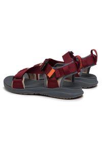 Czerwone sandały trekkingowe columbia