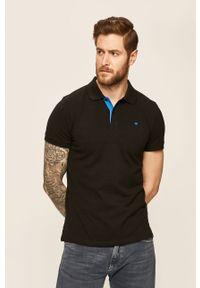 Czarna koszulka polo Tom Tailor casualowa, na co dzień, polo, gładkie