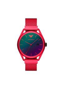 Czerwony zegarek Emporio Armani