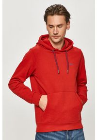 Czerwona bluza nierozpinana s.Oliver z kapturem, casualowa, na co dzień