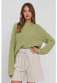 Samsoe & Samsoe - Samsoe Samsoe - Sweter. Kolor: zielony. Długość rękawa: długi rękaw. Długość: długie