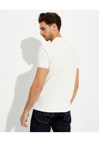 Ralph Lauren - RALPH LAUREN - Kremowa koszulka Polo Custom Slim Fit. Okazja: na co dzień. Typ kołnierza: polo. Kolor: beżowy. Materiał: bawełna, prążkowany. Wzór: haft. Styl: casual