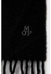 Marc O'Polo - Szalik wełniany. Kolor: czarny. Materiał: wełna