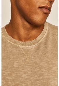Beżowa bluza nierozpinana medicine na co dzień, bez kaptura, casualowa