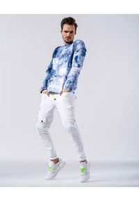 GUNS & TUXEDOS - Niebieska bluza Carramba. Kolor: niebieski. Materiał: jeans, materiał. Długość rękawa: długi rękaw. Długość: długie. Styl: klasyczny