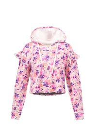 LoveShackFancy - Bluza LOVESHACKFANCY CIEL. Kolor: różowy. Materiał: bawełna. Wzór: aplikacja, nadruk. Sezon: lato