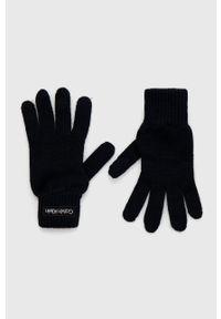 Calvin Klein - Rękawiczki. Kolor: niebieski