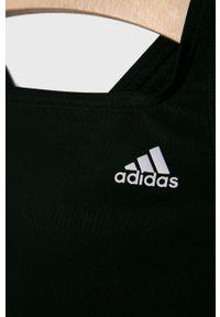 Czarny strój jednoczęściowy adidas Performance z odpinanymi ramiączkami