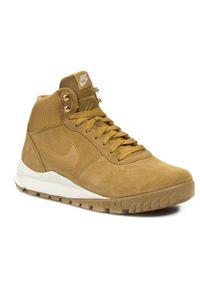 Brązowe sneakersy Nike na sznurówki, na zimę, z cholewką