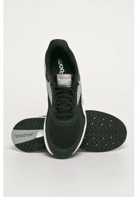 Czarne buty sportowe Reebok na sznurówki, do biegania, z cholewką