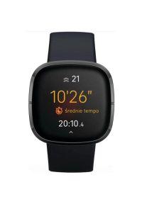 Czarny zegarek FITBIT smartwatch, elegancki