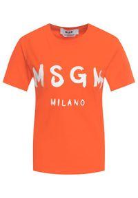 Pomarańczowy t-shirt MSGM