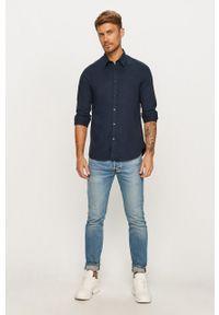 Niebieska koszula Guess Jeans na co dzień, z klasycznym kołnierzykiem
