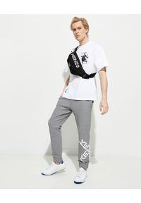 Kenzo - KENZO - Szare spodnie dresowe Sport. Okazja: na co dzień. Kolor: szary. Materiał: dresówka. Długość: długie. Wzór: nadruk. Styl: sportowy