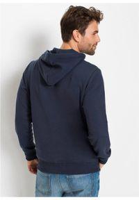 Niebieska bluza bonprix z nadrukiem, z kapturem
