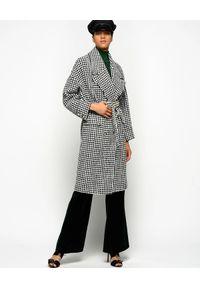 Czarny płaszcz Pinko na zimę, vintage