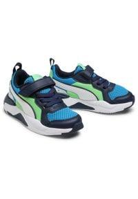 Puma - Sneakersy PUMA - X-Ray Ac Ps 372921 08 Blue/White/Peacoat/Green. Okazja: na spacer. Zapięcie: rzepy. Kolor: niebieski. Materiał: skóra ekologiczna, materiał. Szerokość cholewki: normalna