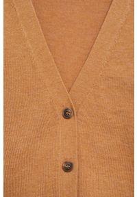 Brązowy sweter rozpinany mango na co dzień, z długim rękawem