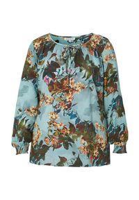 Niebieska bluzka Zhenzi elegancka, w kwiaty