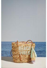 Women Secret - women´secret - Torebka. Kolor: beżowy. Rodzaj torebki: na ramię