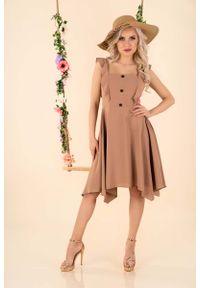 Sukienka Merribel z falbankami, asymetryczna