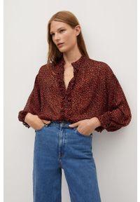 Czerwona koszula mango ze stójką