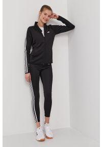 Czarna bluza rozpinana Adidas na co dzień, bez kaptura, casualowa