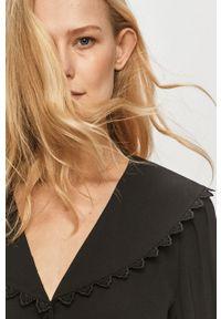 Czarna sukienka Vila mini, casualowa, rozkloszowana, gładkie