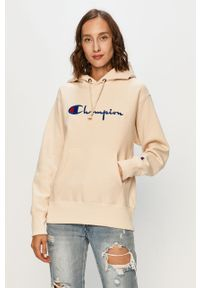Kremowa bluza Champion z kapturem, na co dzień