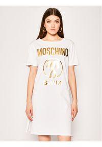 Biała sukienka Moschino Underwear & Swim na co dzień, prosta