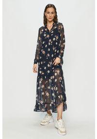 Niebieska sukienka Vero Moda maxi, casualowa, w kwiaty