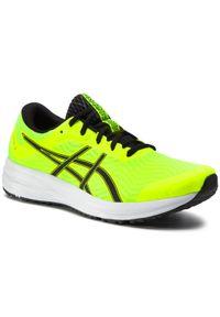 Żółte buty do biegania Asics z cholewką