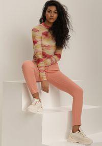 Różowe spodnie skinny Renee