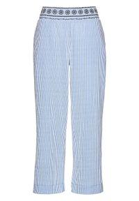Fioletowe spodnie bonprix w paski