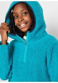 Niebieska bluza bonprix na zimę, z kapturem