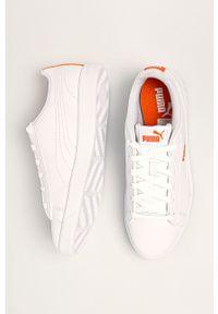 Białe buty sportowe Puma z cholewką, na sznurówki