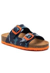 Scholl - Klapki SCHOLL - Air Bag Kid F29642 1359 270 Blue/Orange. Kolor: niebieski. Materiał: skóra