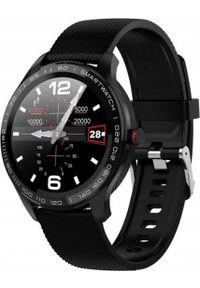 Czarny zegarek oromed smartwatch