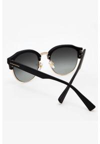 Hawkers - Okulary przeciwsłoneczne RUBBER BLACK GRADIENT CLASSIC. Kształt: okrągłe. Kolor: czarny. Wzór: gradientowy