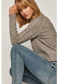 medicine - Medicine - Sweter Salted Caramel. Okazja: na co dzień. Kolor: szary. Długość rękawa: długi rękaw. Długość: długie. Wzór: ze splotem. Styl: casual