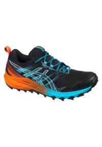 Asics - Buty do biegania w terenie męskie ASICS Gel-Fujitrabuco™ 9. Kolor: pomarańczowy, niebieski, czarny, wielokolorowy. Szerokość cholewki: normalna. Sport: wspinaczka, bieganie