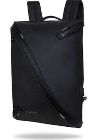 Czarny plecak na laptopa R-BAG